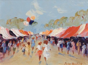 Summer Fair - Oil on Canvas 10 x 8""